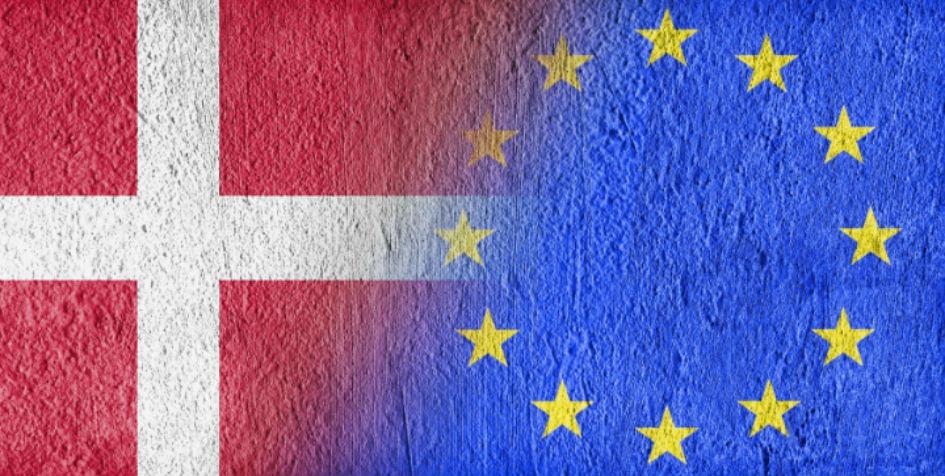 EU og Danmarks flag