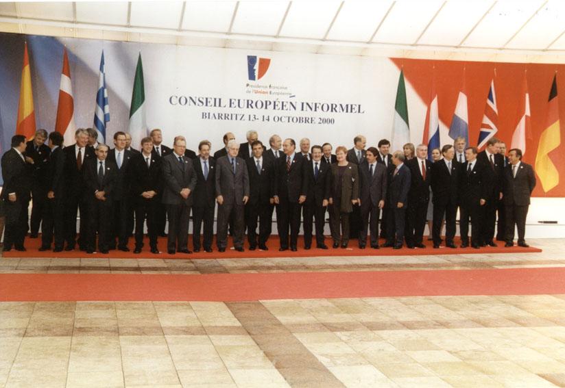 Gruppebillede af stats- og regeringscheferne til EU-topmødet i Biarritz
