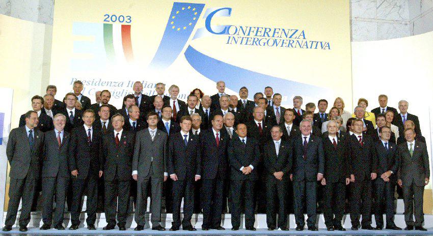 Gruppefoto til det ekstraordinære EU-topmøde i Rom.