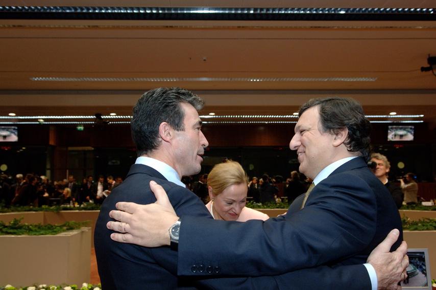 Anders Fogh Rasmussen, Benita Ferrero-Waldner og José Manuel Barroso