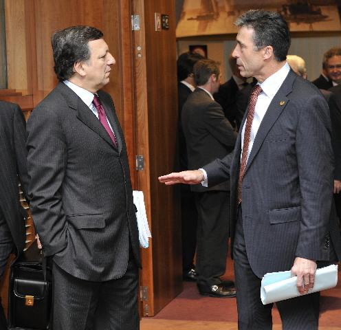 Statsminister Anders Fogh Rasmussen og Kommissionsformanden José Manuel Barroso.