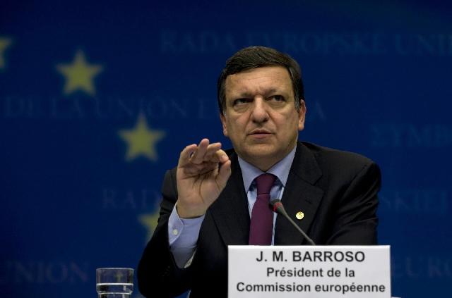 José Manuel Barroso til EU-topmødet.