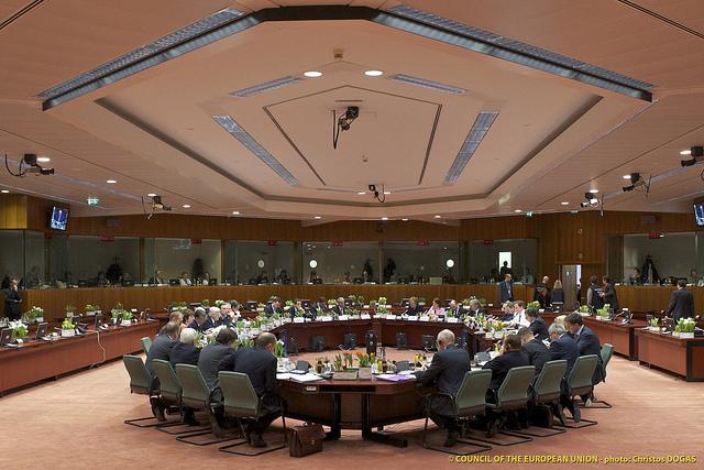 De 27 stats- og regeringsledere til EU-topmødet.