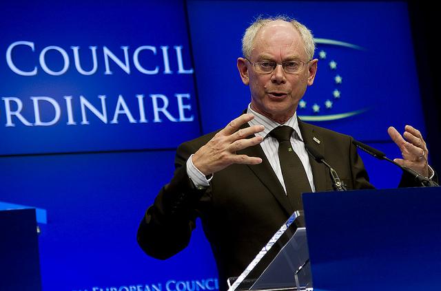 Herman Van Rompuy ved EU-topmødet