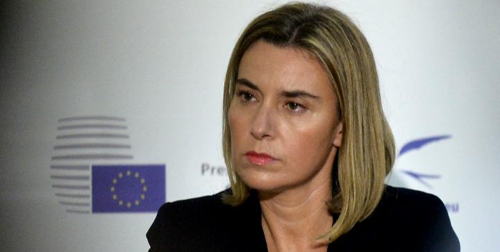 Her ses EU's udenrigsrepræsentant Federica Mogherini. Kilde: Kommissionen
