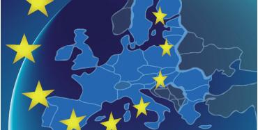 EU's medlemslande med stjernerne.