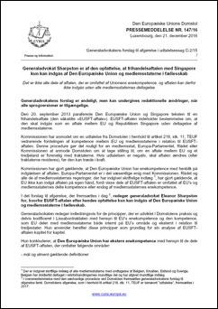 Pressemeddelelse fra EU-Domstolen