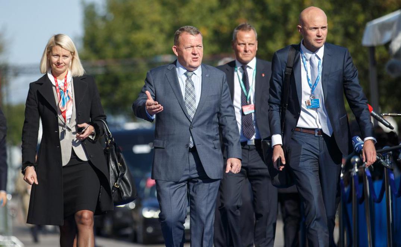 Statsminister Lars Løkke Rasmussen ankommer til det digitale topmøde. Foto: Paul Mee (EU2017EE)