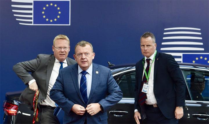 Statsministeren ankommer til EU-topmøde i Bruxelles den 29. april 2017