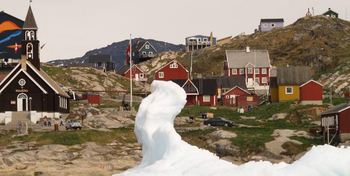 Udsigt over den Grønlandske by Ilulissat. Kilde: Kommissionen