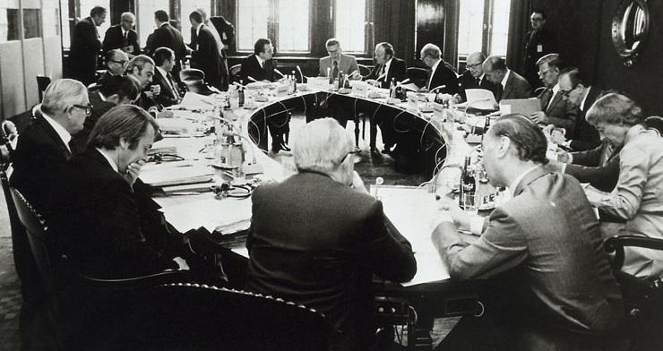 Under topmødet i Bremen, hvor stats- og regeringscheferne er samlet.