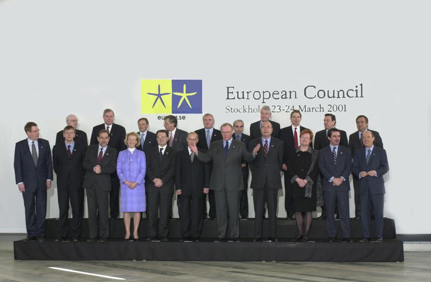 Gruppebillede fra EU-topmødet i Stockholm