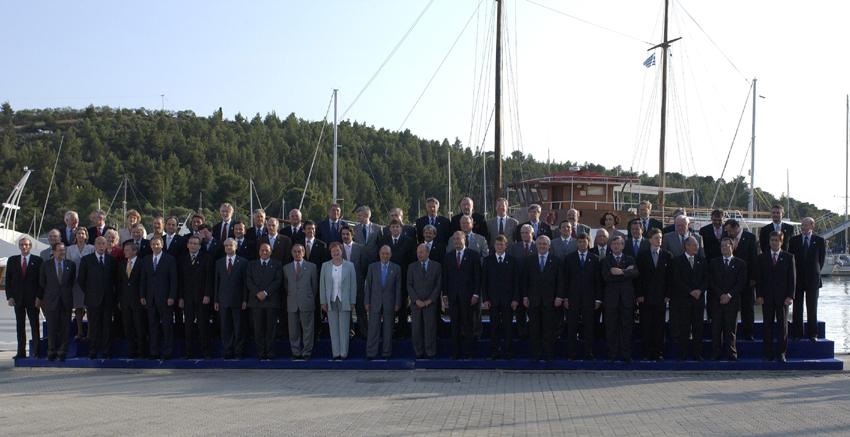 Gruppebillede til EU-topmødet i Thessaloniki.