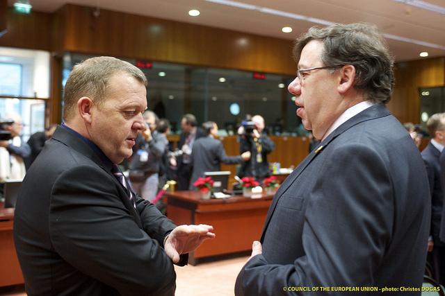 Statsminister Lars Løkke Rasmussen og den irske premierminister Brian Cowen.
