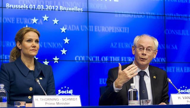 Statsminister, Helle Thorning-Schmidt, og formanden for Det Europæisk Råd, Herman Van Rompuy.