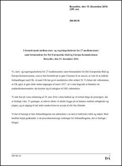 Erklæring om brexit-forhandlingerne fra EU-27