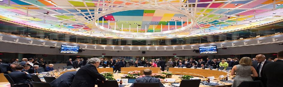 Stats- og regeringsledere samlet til møde i Det Europæiske råd.