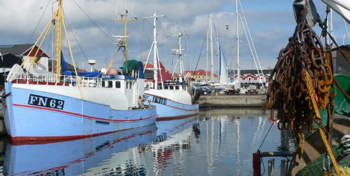 To fiskerfartøjer i Skagen Havn. Kilde: Aquamind