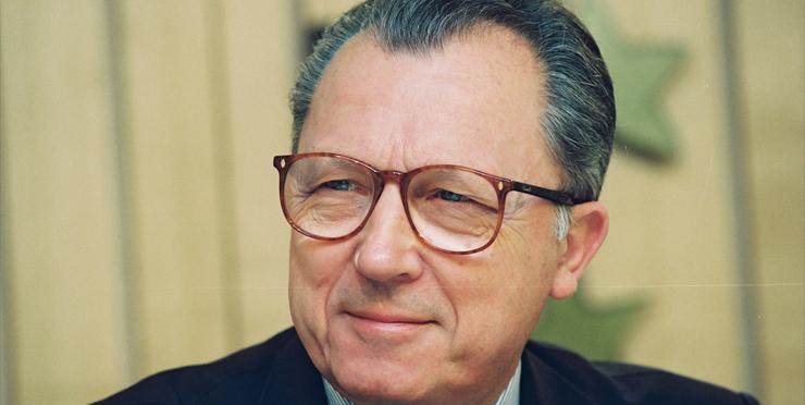 Én af euroens bagmænd, kommissionsformanden Jacques Delors. Foto: Kommissionen