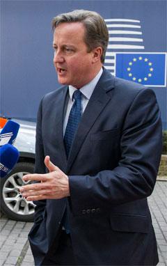 Den britiske premierminister, David Cameron