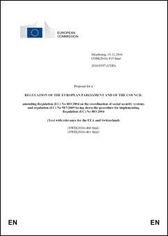 Forslag til forordning om ændring af forordning 883/2004 og 987/2009