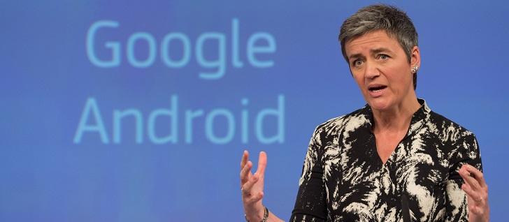 Margrethe Vestager åbner ny sag mod Google om dens styringssystem Android.