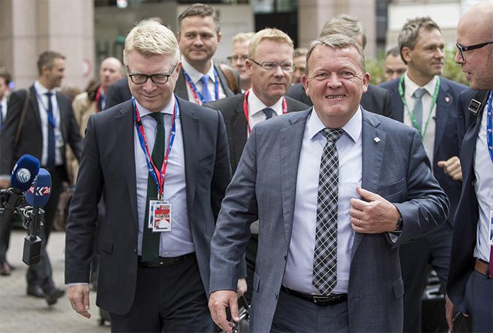 Statsminister Lars Løkke Rasmussen ankommer til EU-topmødet. Foto: Rådet.