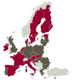 Lande der får ekstra medlemmer i Europa-Parlamentet