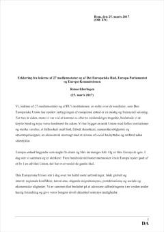 Romerklæring vedtaget af de 27 stats- og regeringschefer