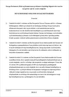 Den europæiske søjle for sociale rettigheder