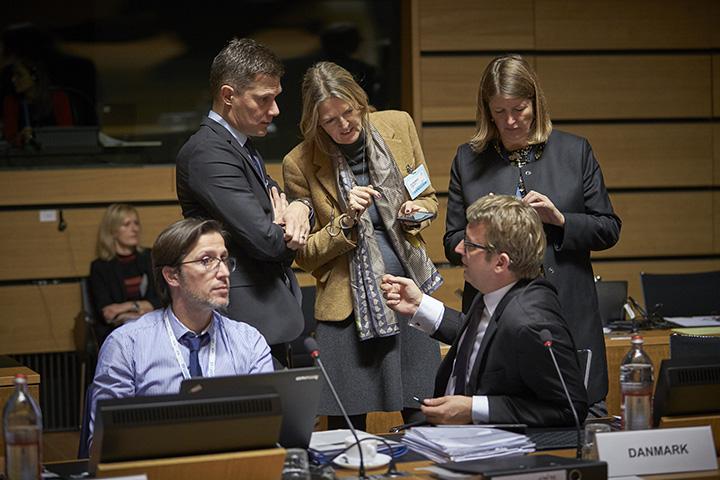 Beskæftigelsesminister Troels Lund Poulsen under rådsmødet. Foto: Rådet