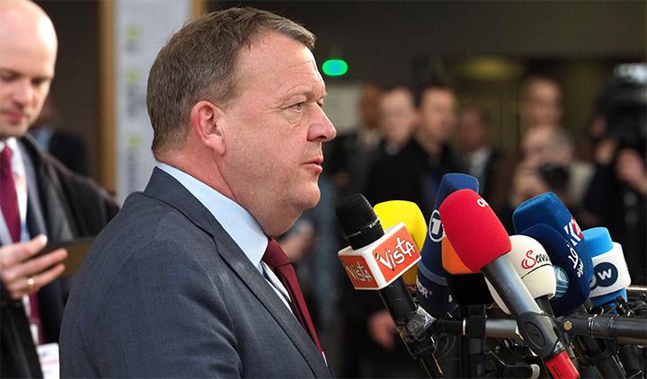 Statsminister Lars Løkke Rasmussen ved ankomsten til det uformelle EU-topmøde. Foto: Rådet