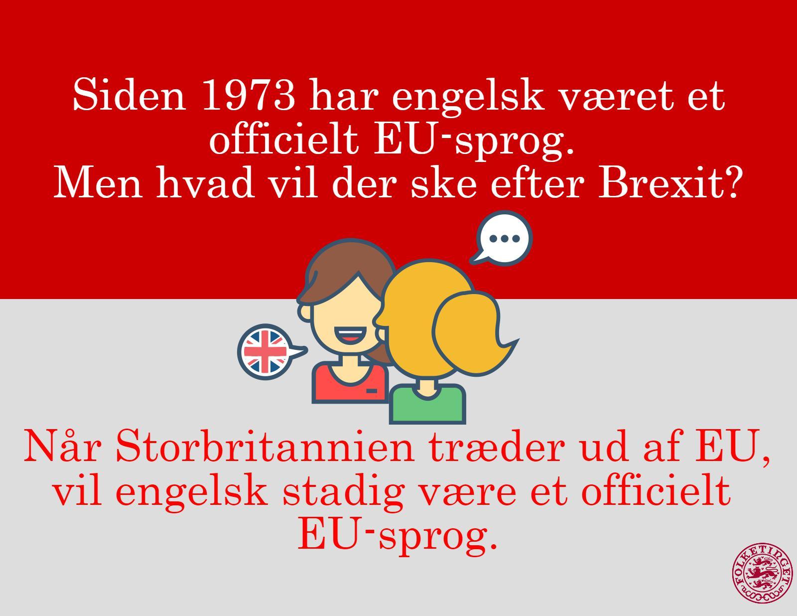 Vil engelsk være et officielt EU sprog efter Brexit?