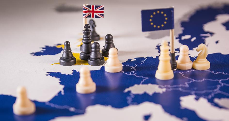 Skakbrikker symboliserer Brexit. Fotograf ©tanaonte - stock.adobe.com