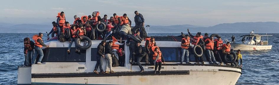 Båd med flygtninge