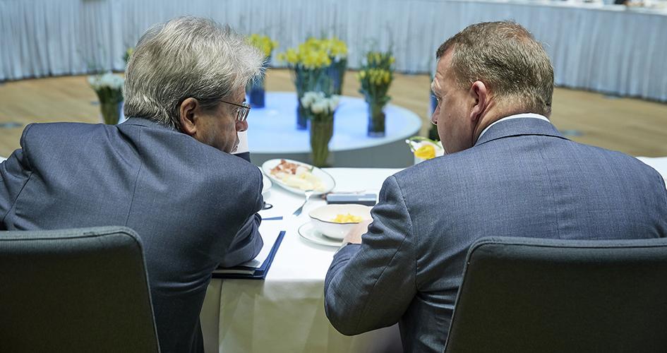 Statsminister Lars Løkke Rasmussen til møde i Det Europæiske Råd