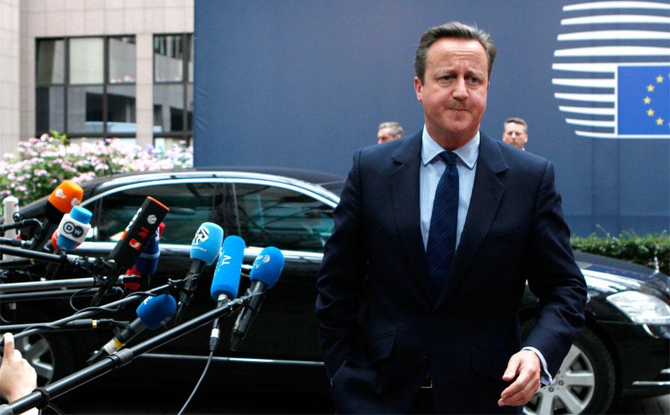 David Cameron ankommer til EU-topmødet