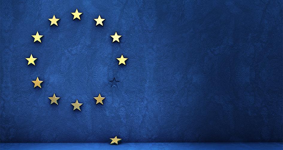 Blåt flag med stjerner