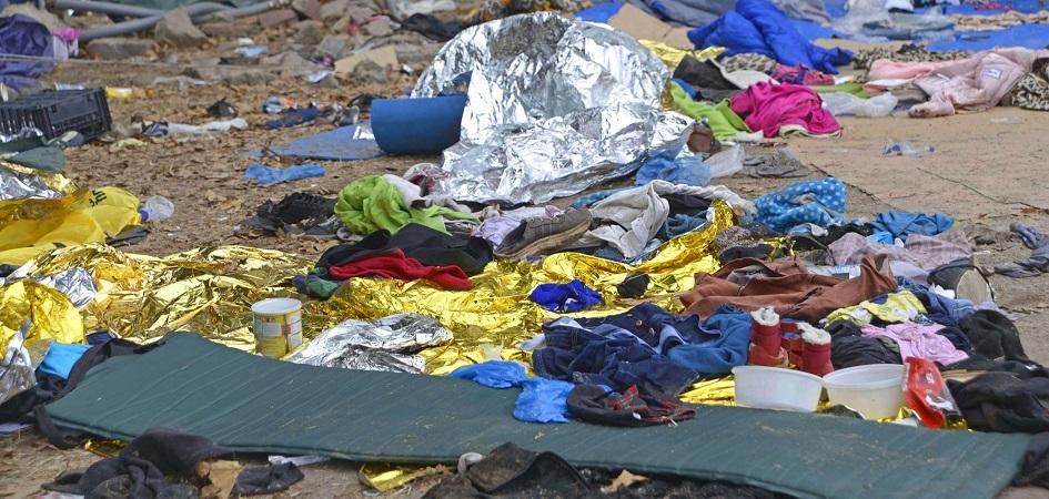A refugee camp Eftalou Lesvos in Greece - Fotograf ANJO KAN