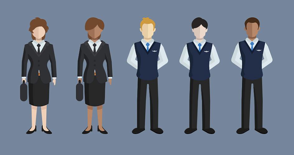 Illustration af kvinder og mænd i bestyrelser